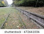 Small photo of Railway tracks for the former military installations in Peenemuende Germany