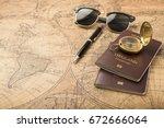 planning travel concept ... | Shutterstock . vector #672666064