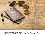 planning travel concept ... | Shutterstock . vector #672666163