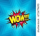 superhero comic book speech...   Shutterstock .eps vector #672679693