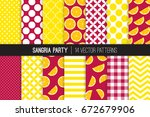 Sangria Party Vector Patterns...