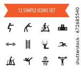 set of 12 editable fitness...