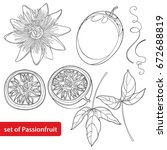 vector set with outline passion ... | Shutterstock .eps vector #672688819
