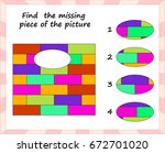 visual logic puzzle  find... | Shutterstock .eps vector #672701020