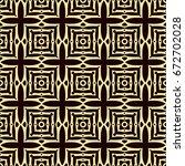 seamless golden ornamental... | Shutterstock .eps vector #672702028