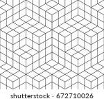 vector seamless pattern. modern ... | Shutterstock .eps vector #672710026