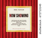 theater sign or cinema sign on... | Shutterstock .eps vector #672713140