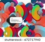 abstract color geometric round... | Shutterstock .eps vector #672717940