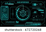 hud interface template. black... | Shutterstock .eps vector #672720268