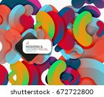 abstract color geometric round... | Shutterstock . vector #672722800