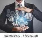 reaching images streaming ...   Shutterstock . vector #672726388