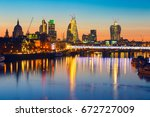 london sunrise. view on... | Shutterstock . vector #672727009