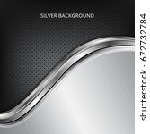 silver technology background.... | Shutterstock .eps vector #672732784