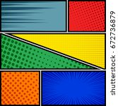 comics pop art style blank... | Shutterstock .eps vector #672736879