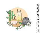 the concept of spa and massage... | Shutterstock .eps vector #672743008