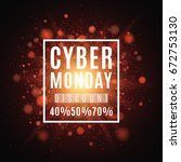 cyber monday. great sale.... | Shutterstock .eps vector #672753130