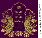 wedding invitation card... | Shutterstock .eps vector #672754870