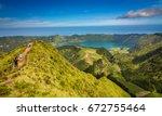 sete cidades lagoa ponta... | Shutterstock . vector #672755464