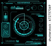 concept of the hud interface....   Shutterstock .eps vector #672757069