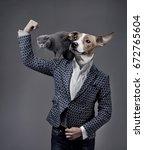 A Businessman  With A Dog Head...