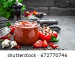 tomato sauce | Shutterstock . vector #672770746