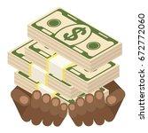 black african american hand... | Shutterstock .eps vector #672772060