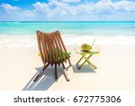 playa del carmen   relaxing on... | Shutterstock . vector #672775306