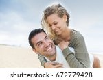 portrait of living young couple ... | Shutterstock . vector #672779428