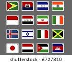 stamp flag05   Shutterstock .eps vector #6727810