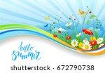 summer or spring template for... | Shutterstock .eps vector #672790738