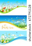 summer or spring template for... | Shutterstock .eps vector #672791128