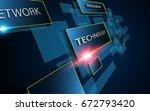 vector background abstract... | Shutterstock .eps vector #672793420