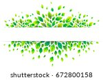 white paper stripe banner on... | Shutterstock . vector #672800158