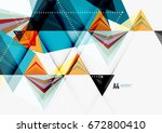 triangular low poly a4 size... | Shutterstock . vector #672800410