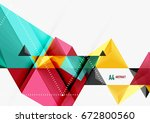 triangular low poly a4 size... | Shutterstock . vector #672800560