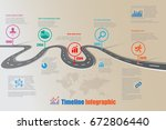 design template  road map... | Shutterstock .eps vector #672806440