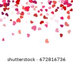 colorful background with heart... | Shutterstock .eps vector #672816736