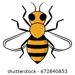 honey bee | Shutterstock .eps vector #672840853