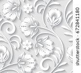 elegant 3d seamless floral...