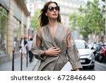 paris july 8  2015. ece sukan... | Shutterstock . vector #672846640