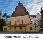 staronova synagoga. the old new ...   Shutterstock . vector #672848263