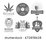 reggae logos. vector badges for ...