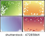 four frames with seasonal theme ... | Shutterstock .eps vector #67285864