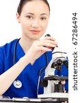 woman doctor in uniform stay... | Shutterstock . vector #67286494