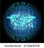 social media network concept.... | Shutterstock .eps vector #672869548