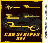 tribal and cool car stripe set...   Shutterstock .eps vector #672881383