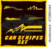 tribal and cool car stripe set... | Shutterstock .eps vector #672881464