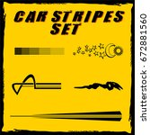 tribal and cool car stripe set... | Shutterstock .eps vector #672881560
