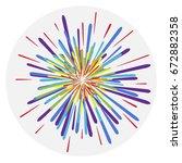 fireworks  colorful fireworks ... | Shutterstock .eps vector #672882358