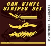 tribal and cool car stripe set... | Shutterstock .eps vector #672883558